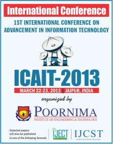 IJCST-Upcoming International Conference-ICAIT 2013